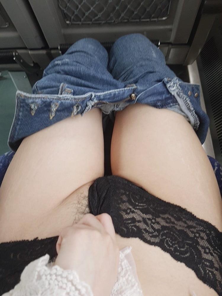Sexy girl flashing in public-1323