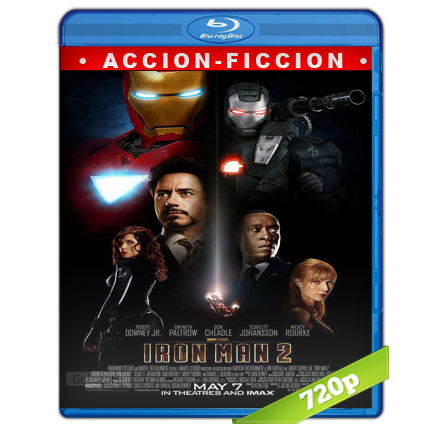 descargar Iron Man 2 720p Lat-Cast-Ing 5.1 (2010) gratis