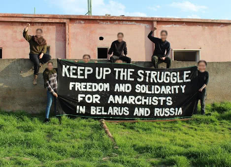 Keep up the struggle freedom and solidarity for anarchists in Belarus and Russia