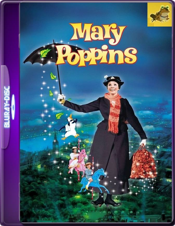 Mary Poppins (1964) Brrip 1080p (60 FPS) Latino / Inglés