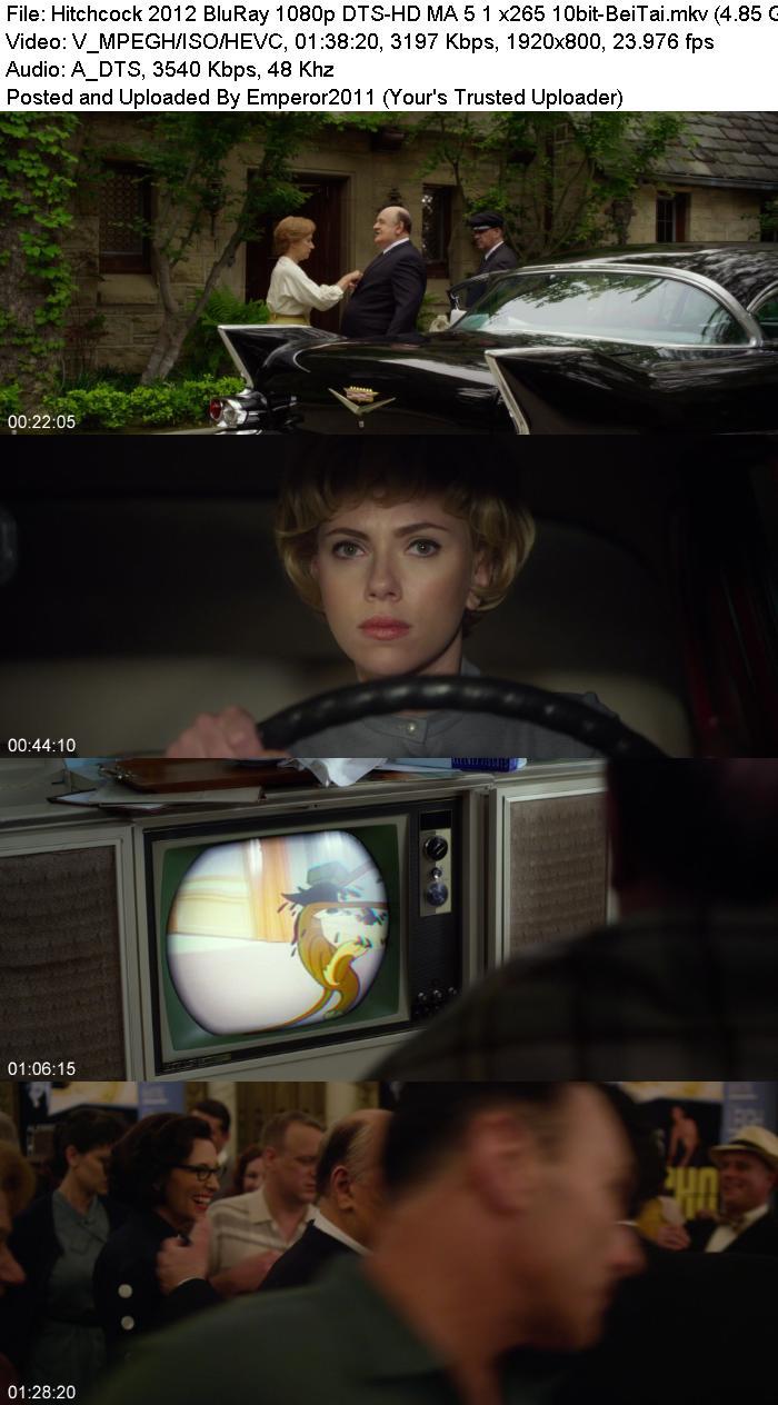 Dts Hd Ma: Hitchcock 2012 BluRay 1080p DTS-HD MA 5 1 X265 10bit