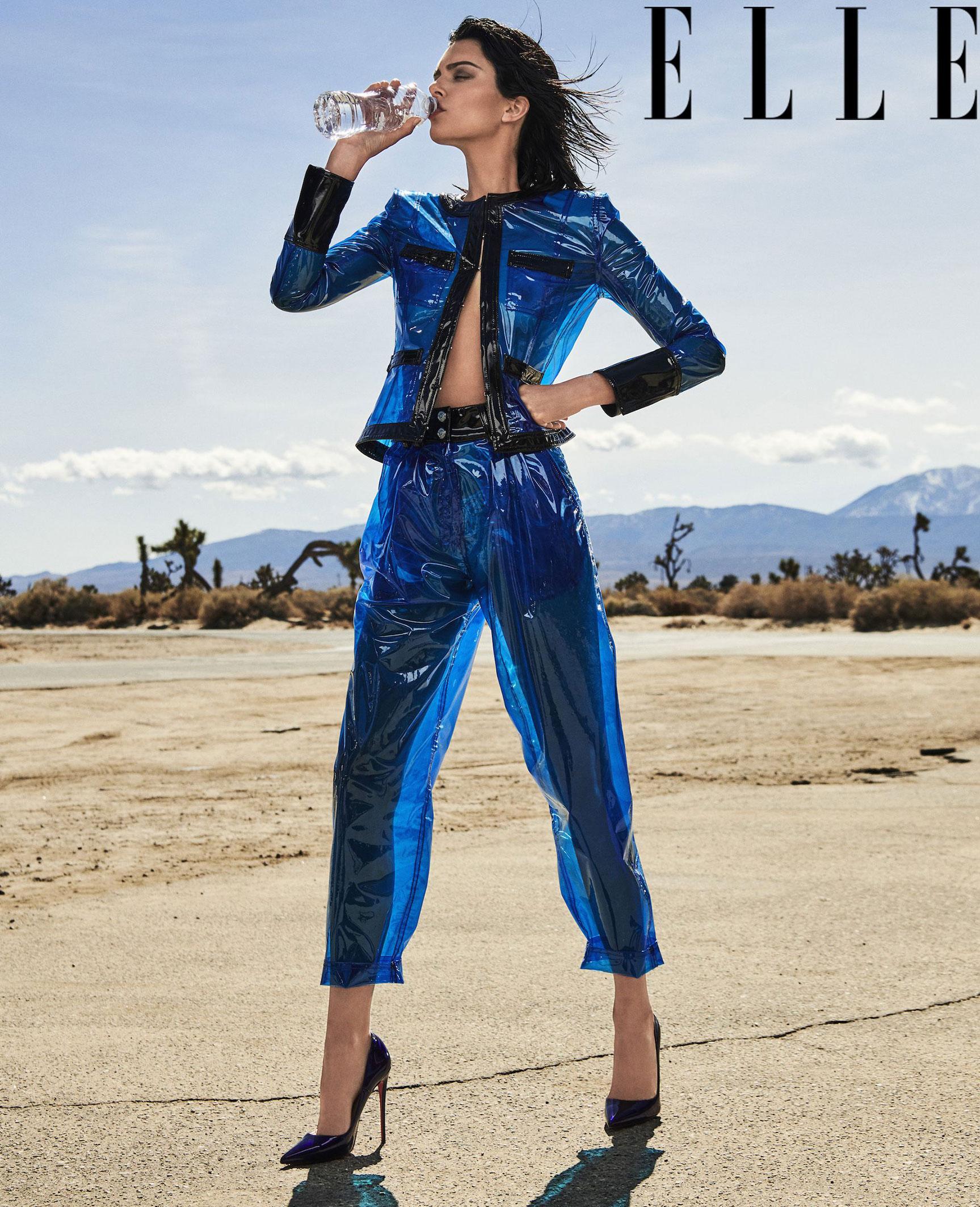 Kendall Jenner by Chris Colls / Elle USA june 2018