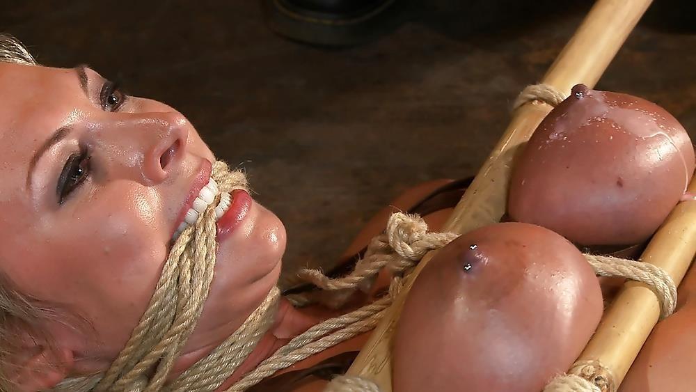 Breast bondage and torture-3711