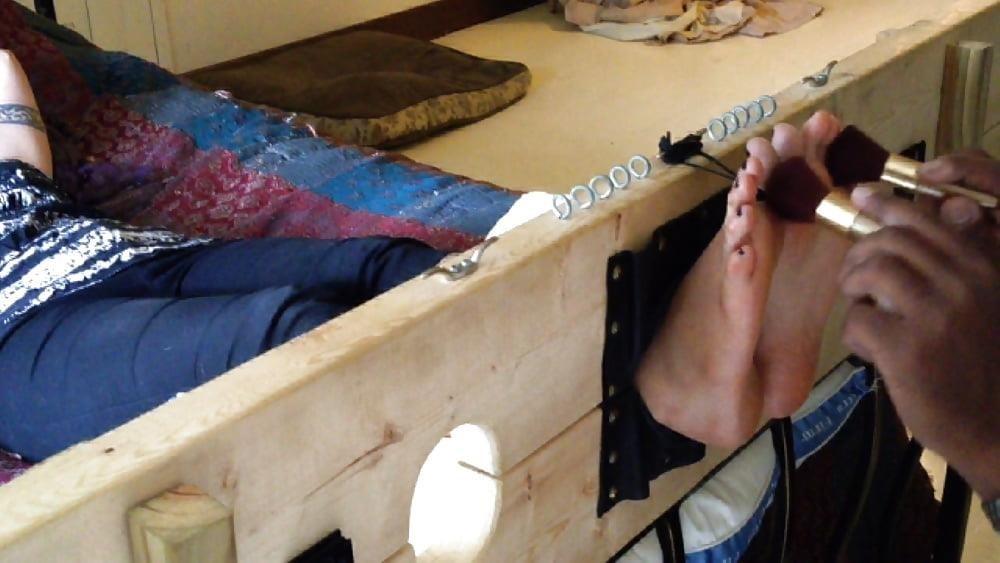 Bondage tickle feet-1025